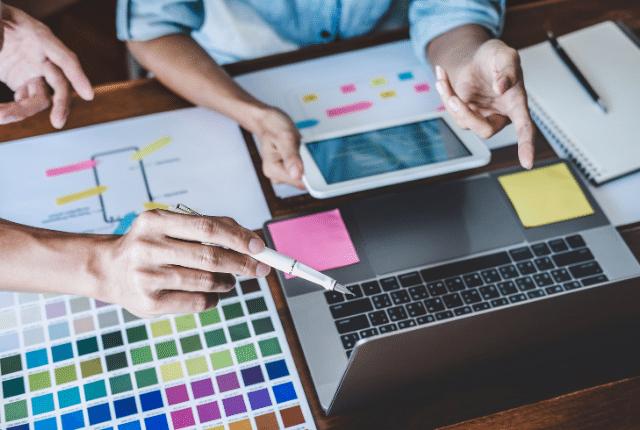 צבעים של עיצוב אתר